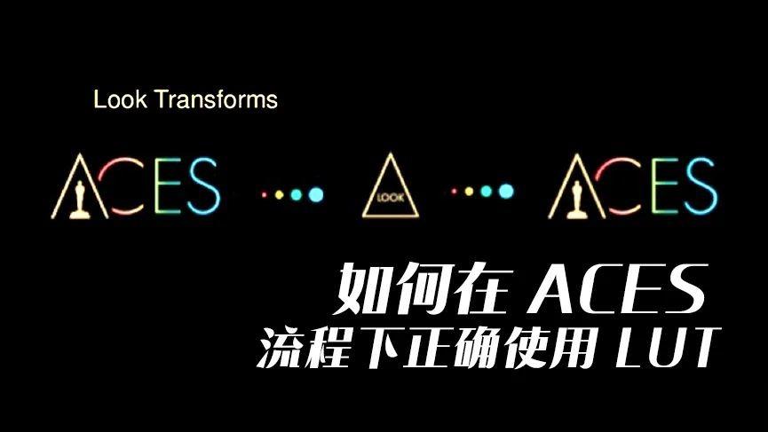 如何在ACES流程下正确使用LUT
