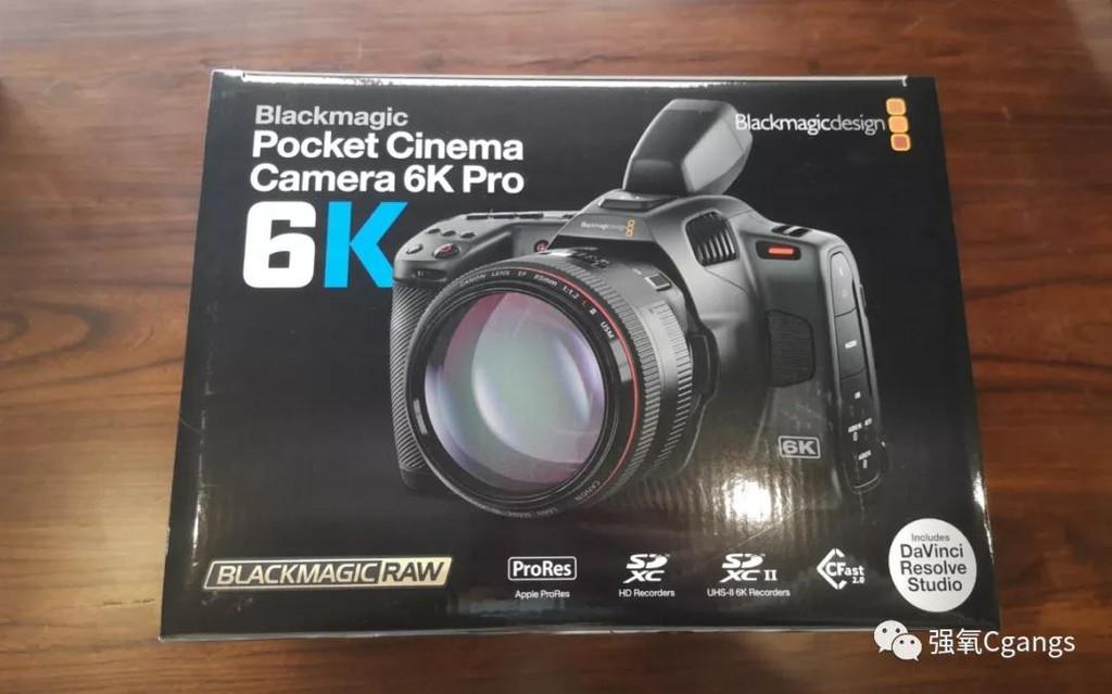 新品开箱|Blackmagic Pocket Cinema Camera 6K Pro