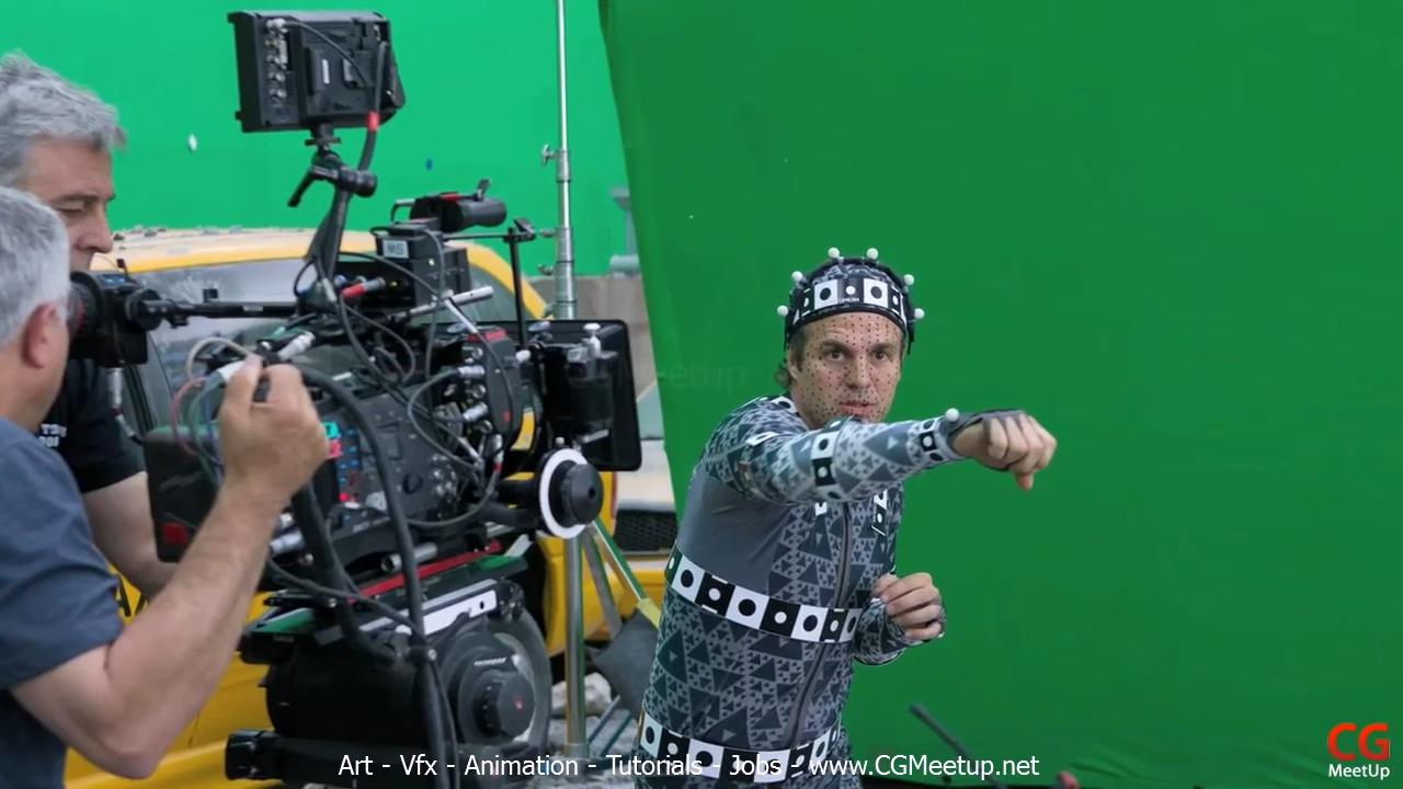 马克·鲁法罗在片场实际演出了绿巨人出镜时的所有动作和表情图片