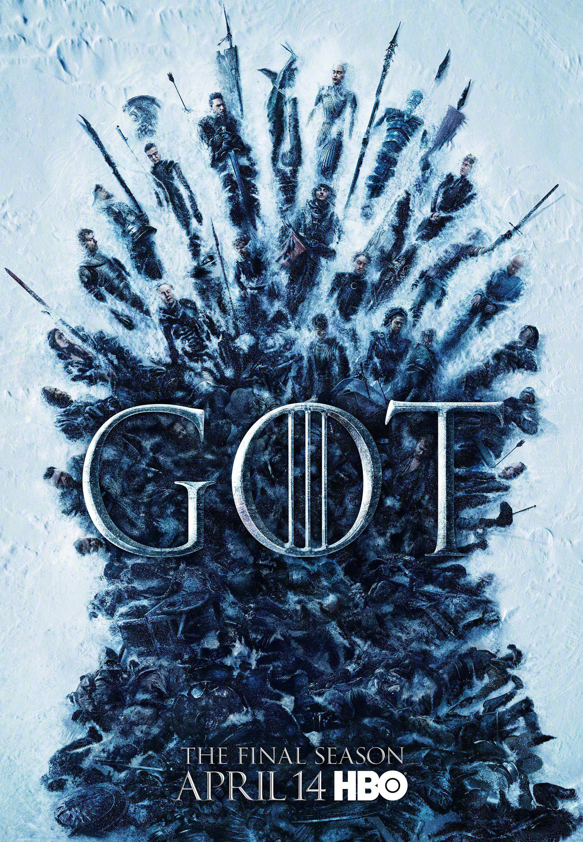 《权力的游戏》最终季海报全体冰封,都最后一季了,谁死也不用意外了....