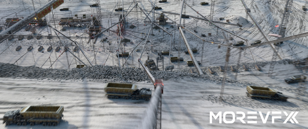 【TECH】MORE VFX《流浪地球》视效解析Part7 · 北京矿区长镜头合成制作解析